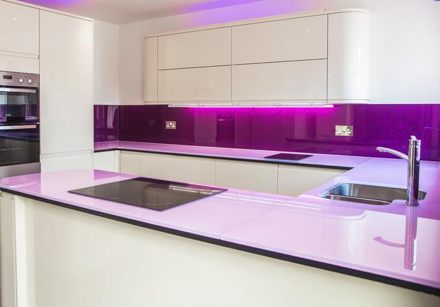 Purple Haze Luxury Collection Splashback Pink Scratch Resistant