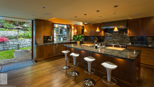Kitchen Island Countertop Overhang   How Is The Granite Overhang In The  Island Being Supported