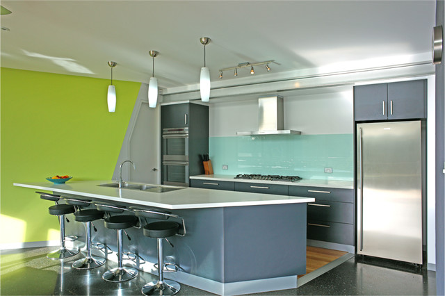 Q two house contemporary kitchen hobart by clever for Kitchen designs hobart