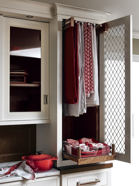 Qcci Tablecloth Storage Cabinet Transitional Kitchen