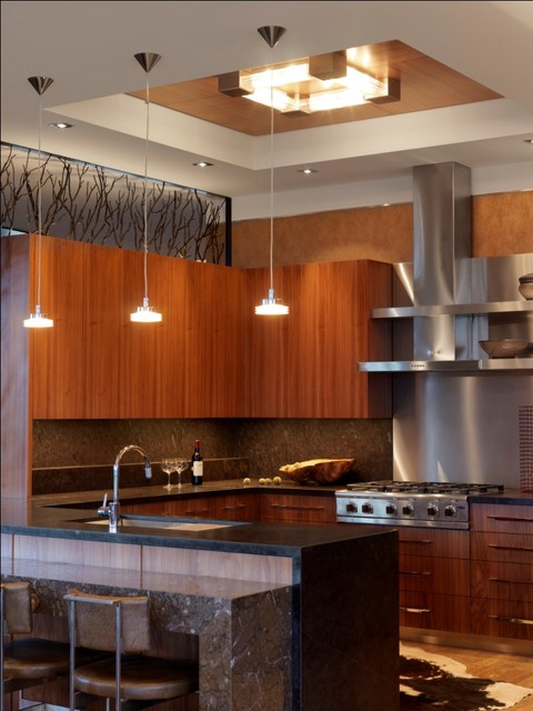 Quaker Bluff Residence contemporary-kitchen