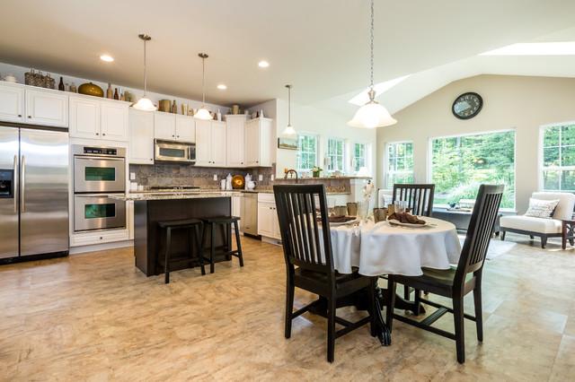 Quaker hill new home community model home kitchen for Quaker kitchen design