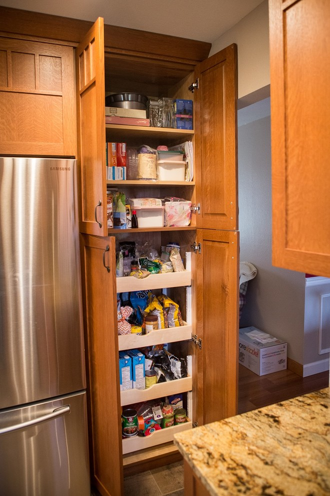 Quarter-Sawn Oak Kitchen, Pantry Cabinet with Height ...