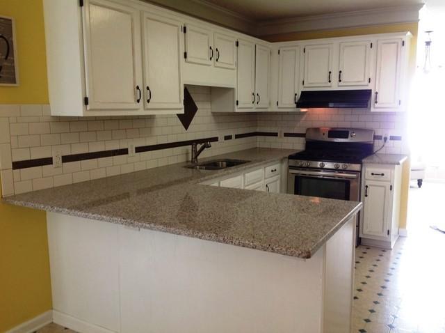 Quartz Countertops Galation transitional-kitchen