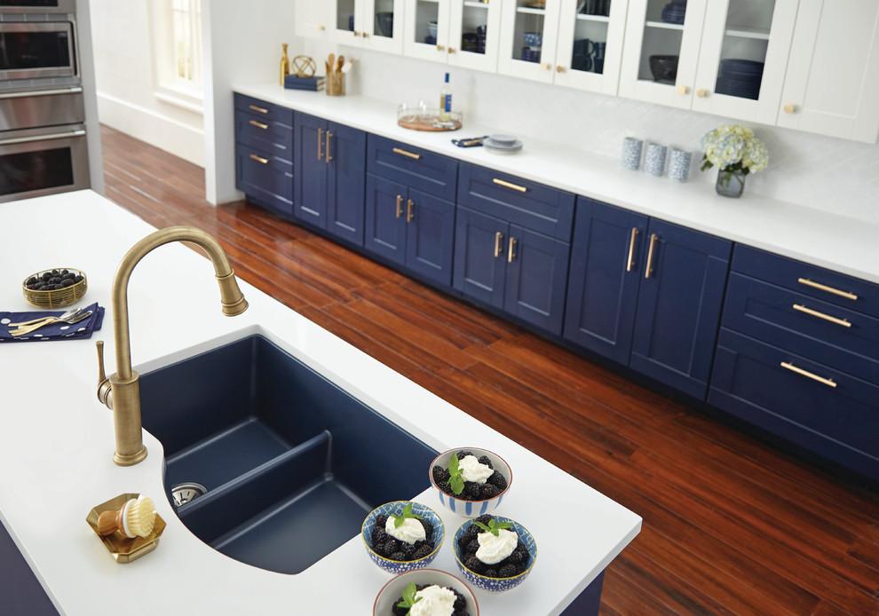 Quartz Luxe Double Bowl Undermount Sink with Aqua Divide ...