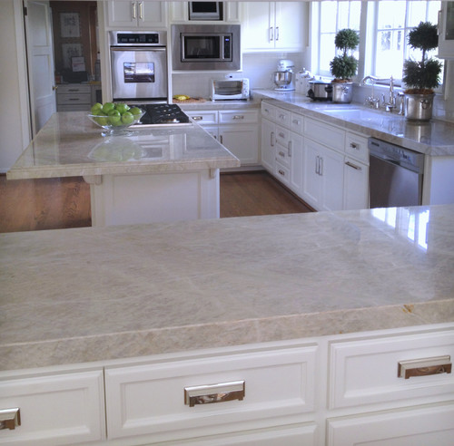 Kitchen Backsplash Same As Countertop: Quartzite Slabs · More Info