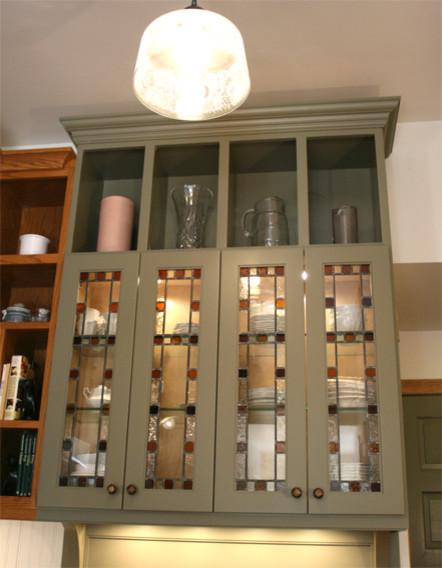 Queen Anne Kitchen Storage and Display traditional-kitchen