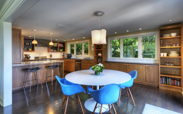 Queen Anne Mid Century midcentury-kitchen