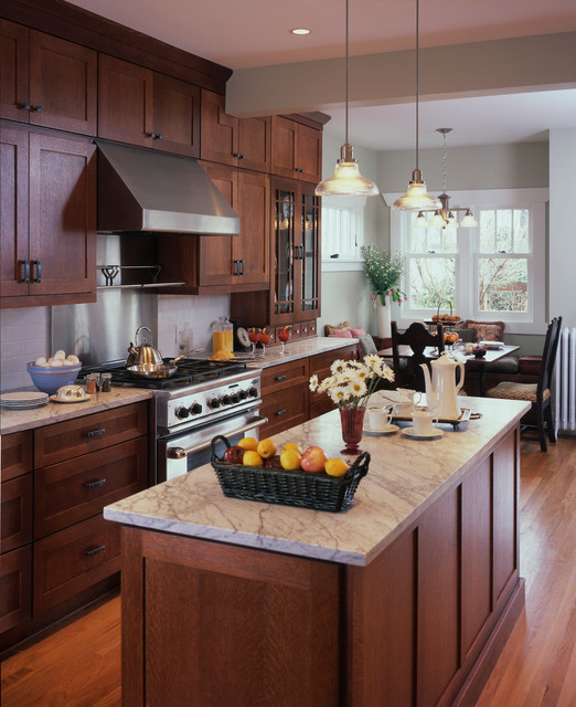 Queen anne mission traditional kitchen seattle by for Kitchen cabinets seattle