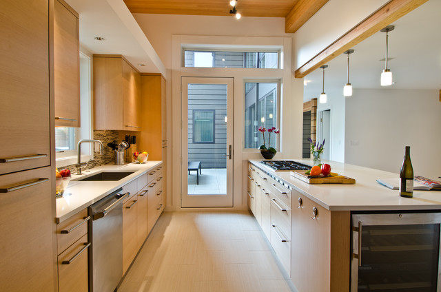 Open Galley Kitchen Designs Queen Anne Residence Contemporary Seattle Lee