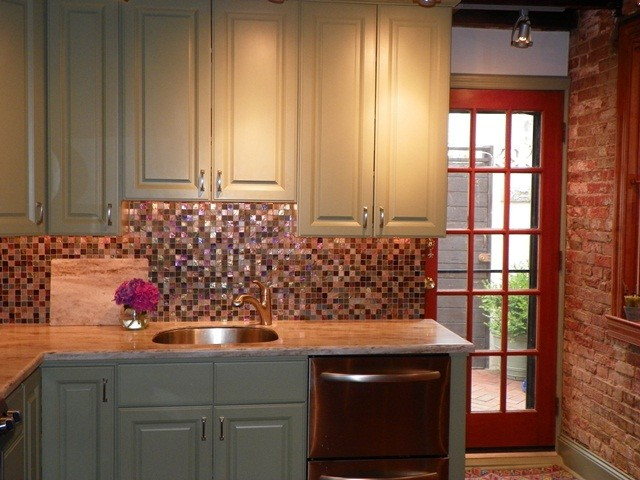 Queens village kitchen eclectic kitchen philadelphia for Kitchen cabinets queens
