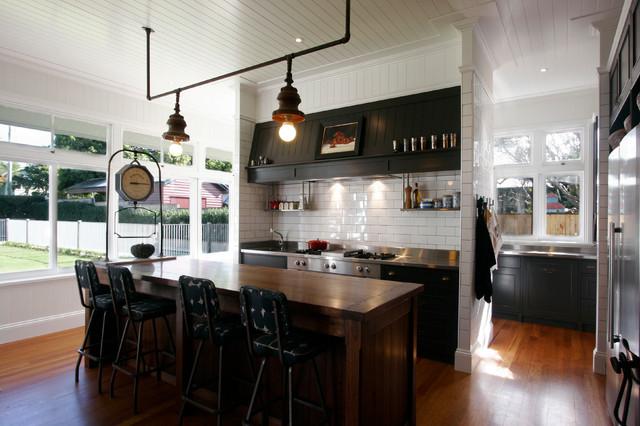 Queenslander Renovation Contemporary Kitchen Brisbane By Enigma Interiors