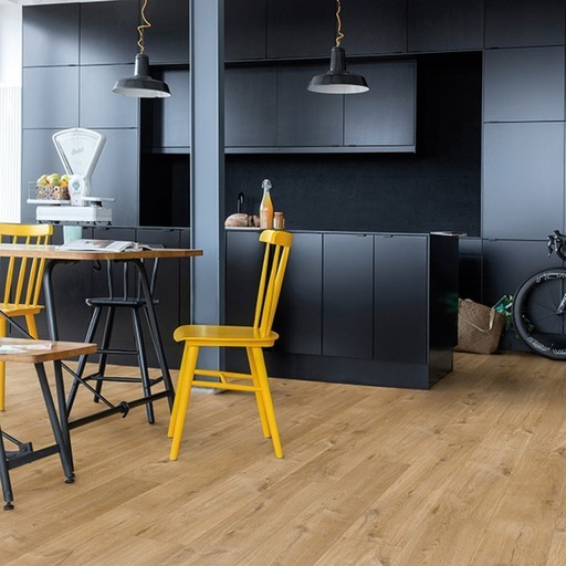 Quickstep livyn pulse click cotton oak natural vinyl for Quickstep kitchen flooring