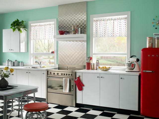 Quilt Pattern Kitchen Backsplash Project - Contemporary - Kitchen ... : quilted metal backsplash - Adamdwight.com