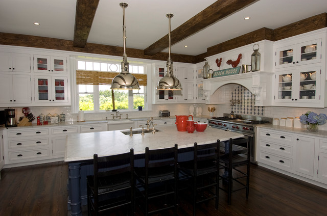 Quogue, Long Island Home  Beach Style  Kitchen  new