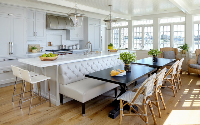 Kitchen Of The Week A New Layout And Coastal Charm In New