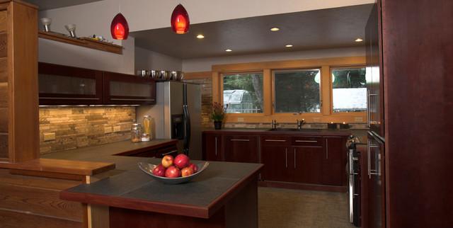 Radar Retreat Cabin contemporary-kitchen