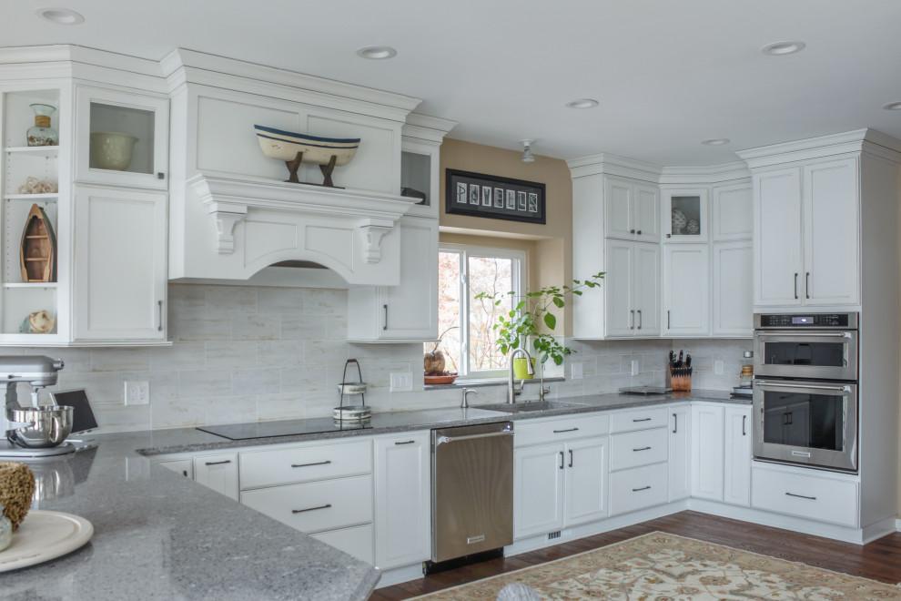Radiant Shaker White Kitchen - Transitional - Kitchen ...