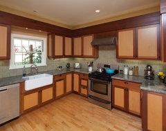 Railroad Historic District Renovation traditional-kitchen