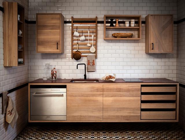 Exempel på ett minimalistiskt kök