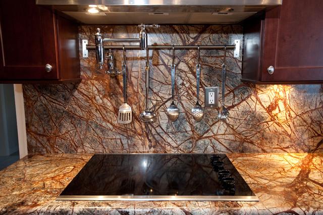 Rainforest Brown Granite Kitchen In