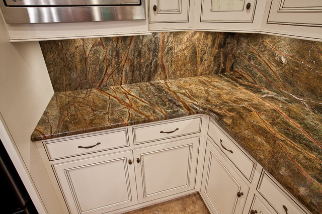 Rainforest Green Granite Kitchen  Traditional  Kitchen  dc metro
