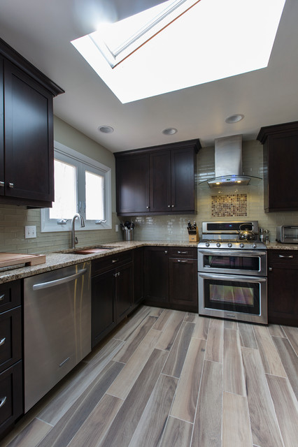 Raised Ranch Kitchen   Transitional   Kitchen   Bridgeport ...