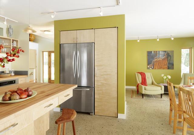 Raised Ranch Retrofit Contemporary Kitchen