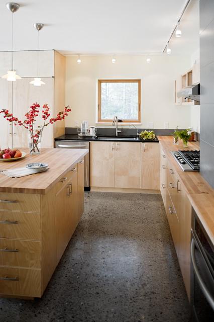 Raised Ranch Retrofit contemporary-kitchen