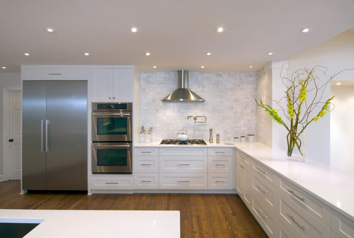 White Kitchen Countertops Design Ideas