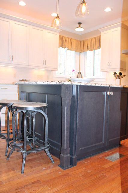 raleigh kitchen remodel - transitional, painted transitional-kitchen