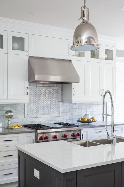 Kitchen Makeover Progress And Herringbone Tile Backsplash U2014 Coastal  Collective Co.