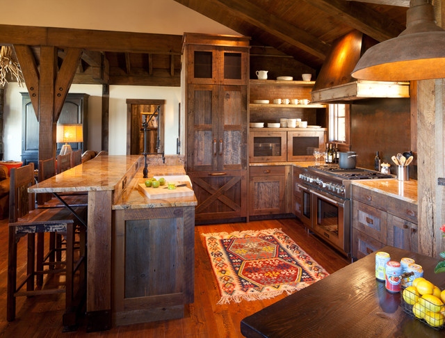 Chimney Rock Cabin Rustic Kitchen Denver By Terra