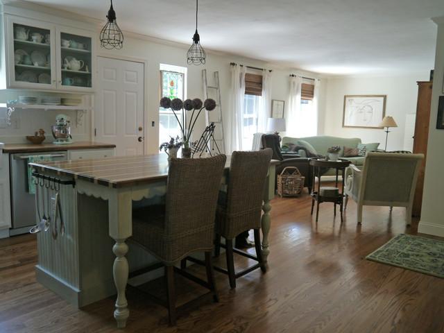 Ranch Home Re Design Kitchen Den Makeover Farmhouse