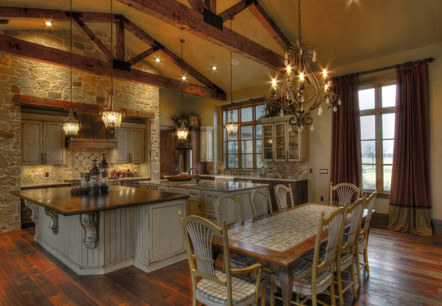 ranch home rustic kitchen houston by sweetlake bookcases atlanta craftsman style home interiors dining