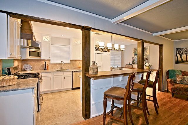 ranch house kitchen living renovation eclectic kitchen