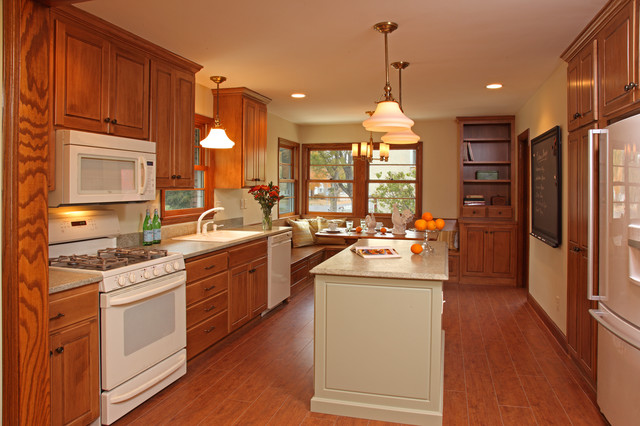 ranch rambler kitchen remodel traditional kitchen - Kitchen Remodel With White Appliances