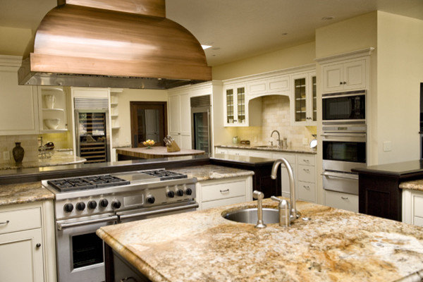 Ranch remodel & addition traditional-kitchen