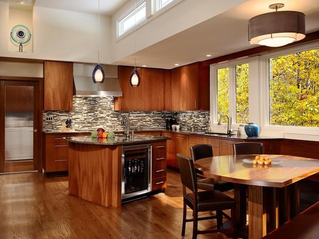 Ranch Remodel Modern Kitchen Atlanta By Hr Construction Inc