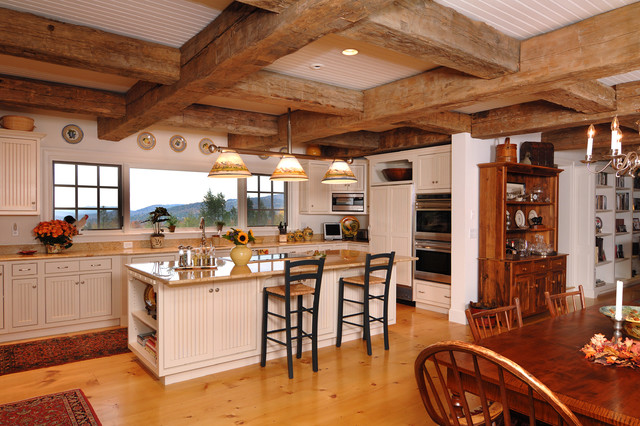 Ranch style with decorative timbers traditional for Ranch style kitchen designs