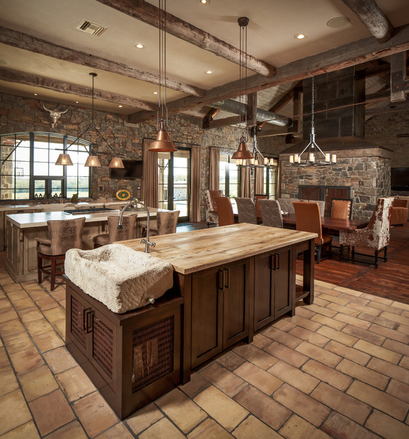 Custom Rustic Kitchens New Ranch  Rustic  Kitchen  Houston Thompson Custom Homes Design Ideas