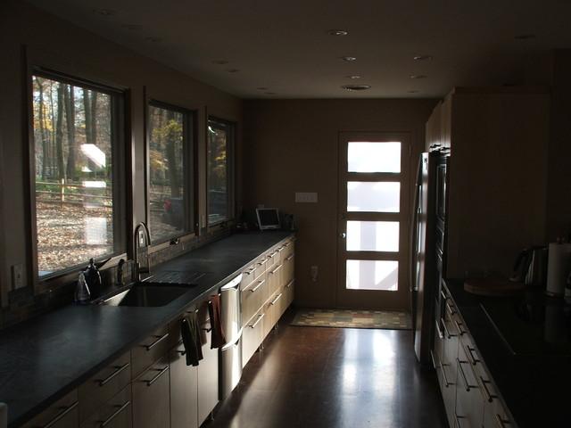 Rancher to Swedish Cottage modern-kitchen