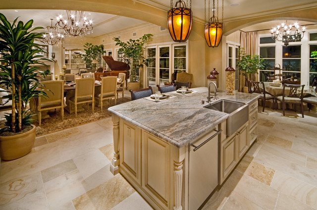 Rancho Mirage Estate Homes mediterranean kitchen