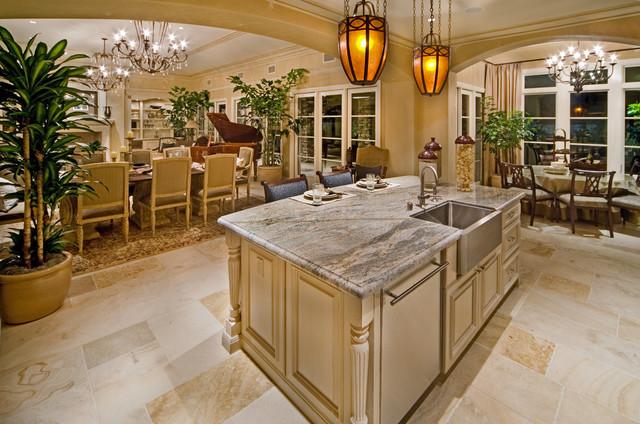 Rancho Mirage Estate Homes mediterranean-kitchen