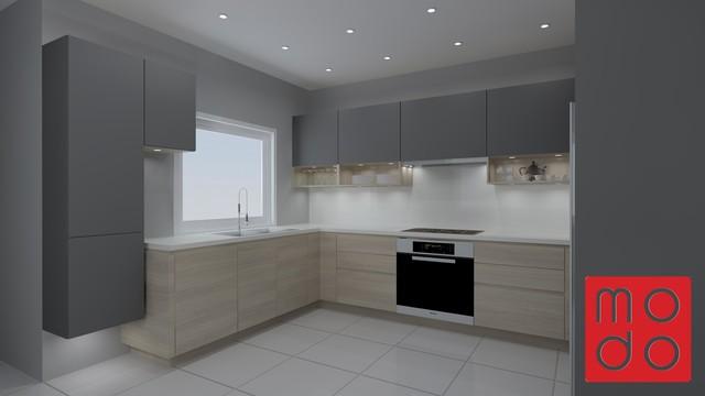 random art modern kitchen toronto by modo north. Black Bedroom Furniture Sets. Home Design Ideas