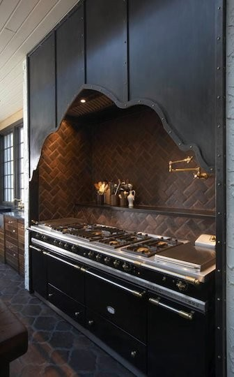 Range Hood eclectic kitchen