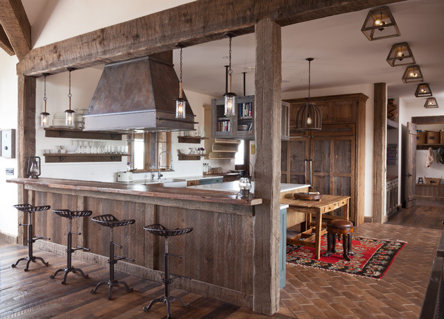 Range Hoods Traditional Rustic Kitchen Denver By Raw