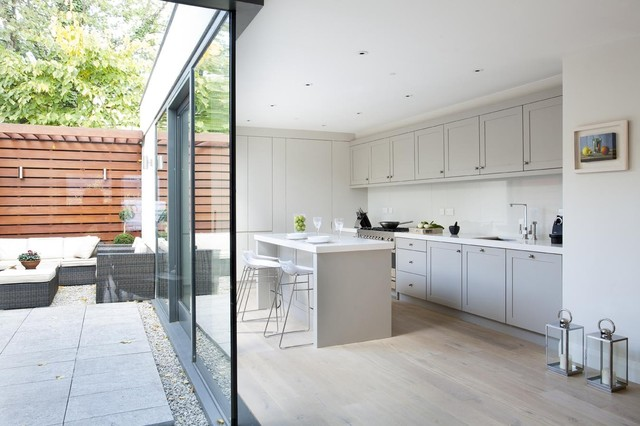 Rathmines townhouse contemporary kitchen dublin by for Kitchen cabinets ireland