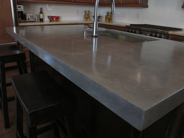 Raw Concrete Look - Kitchen Island