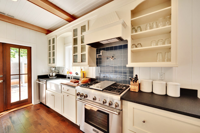 Inspiration For A Timeless Kitchen Remodel In Philadelphia With Open Cabinets Stainless Steel Liances